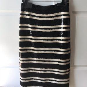 Alice and Olivia Sequin Midi skirt
